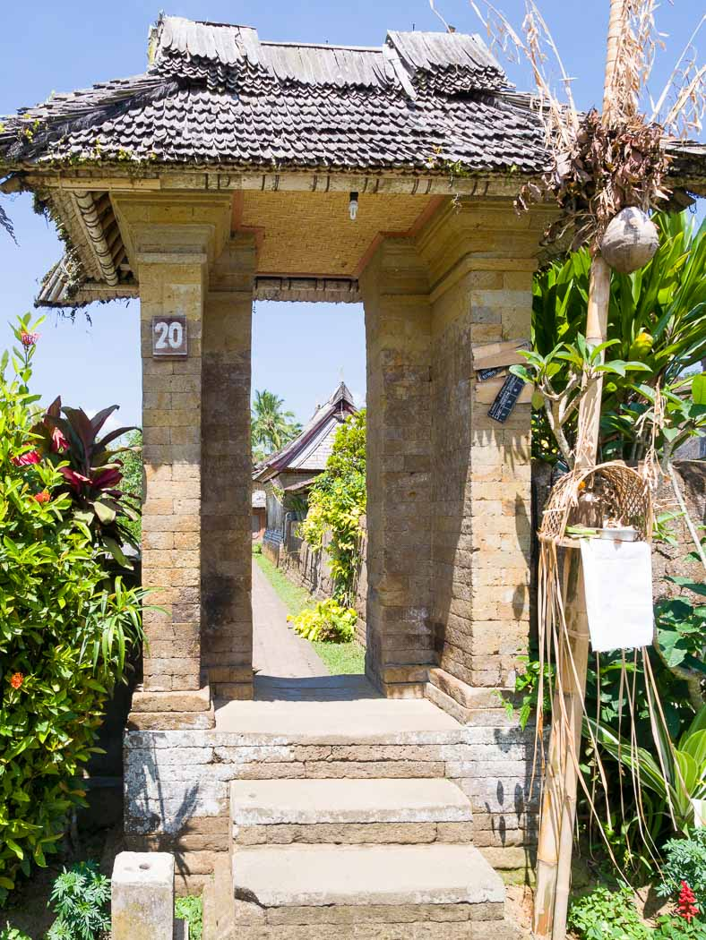 民家の入口の門
